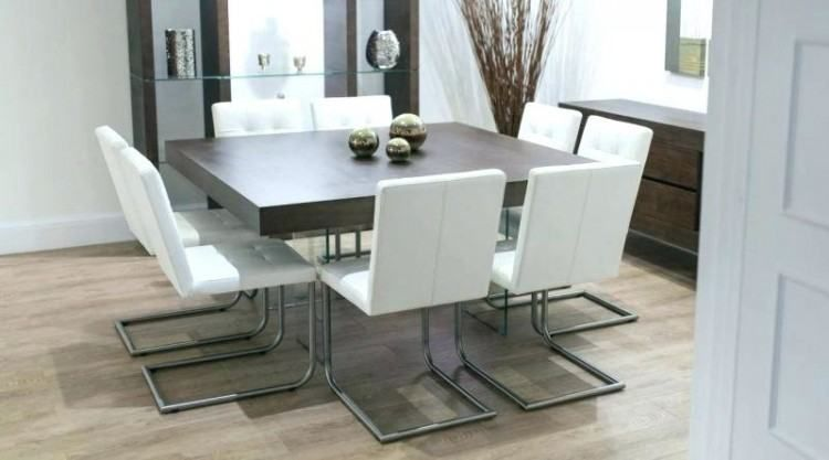 Contemporary Square Dining Room Table For 8 Square Dining Room