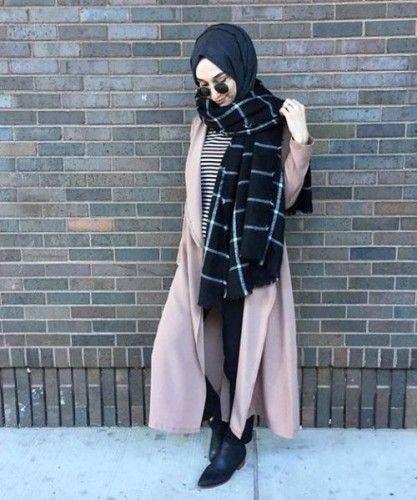 2016 winter hijab fashion street style fashion by. Black Bedroom Furniture Sets. Home Design Ideas