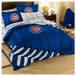 chicago cubs embroidered comforter and sham-twin/full | chicago