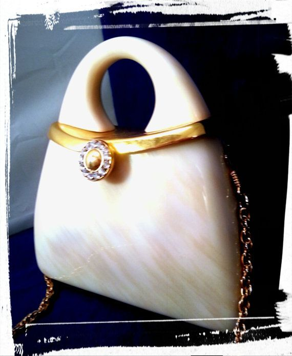 Y&S Original Pearled Lucite Purse by AmbersAntiquesCo on Etsy, $165.00