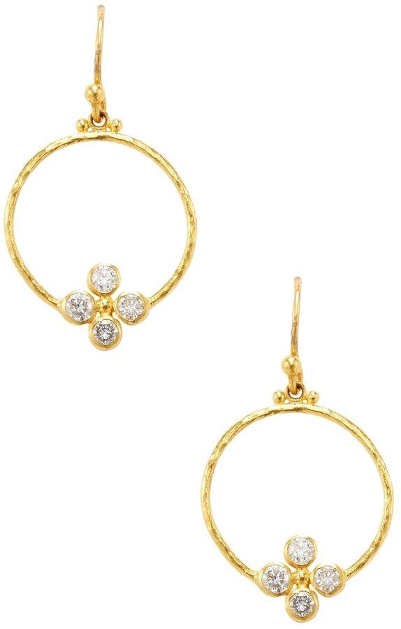 Gurhan Women S 24k Yellow Gold Diamond Earrings