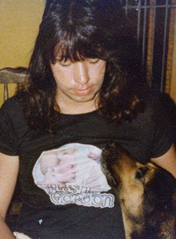 Ace Frehley with his dog