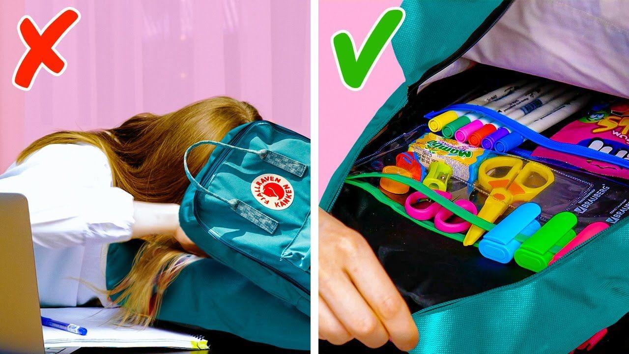 25 Awesome High School Organizing Tricks || School