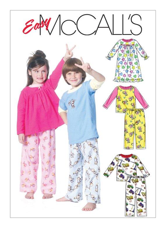 McCall s Easy M6194 Toddlers  Children s Pajama Tops 9c950e4b7