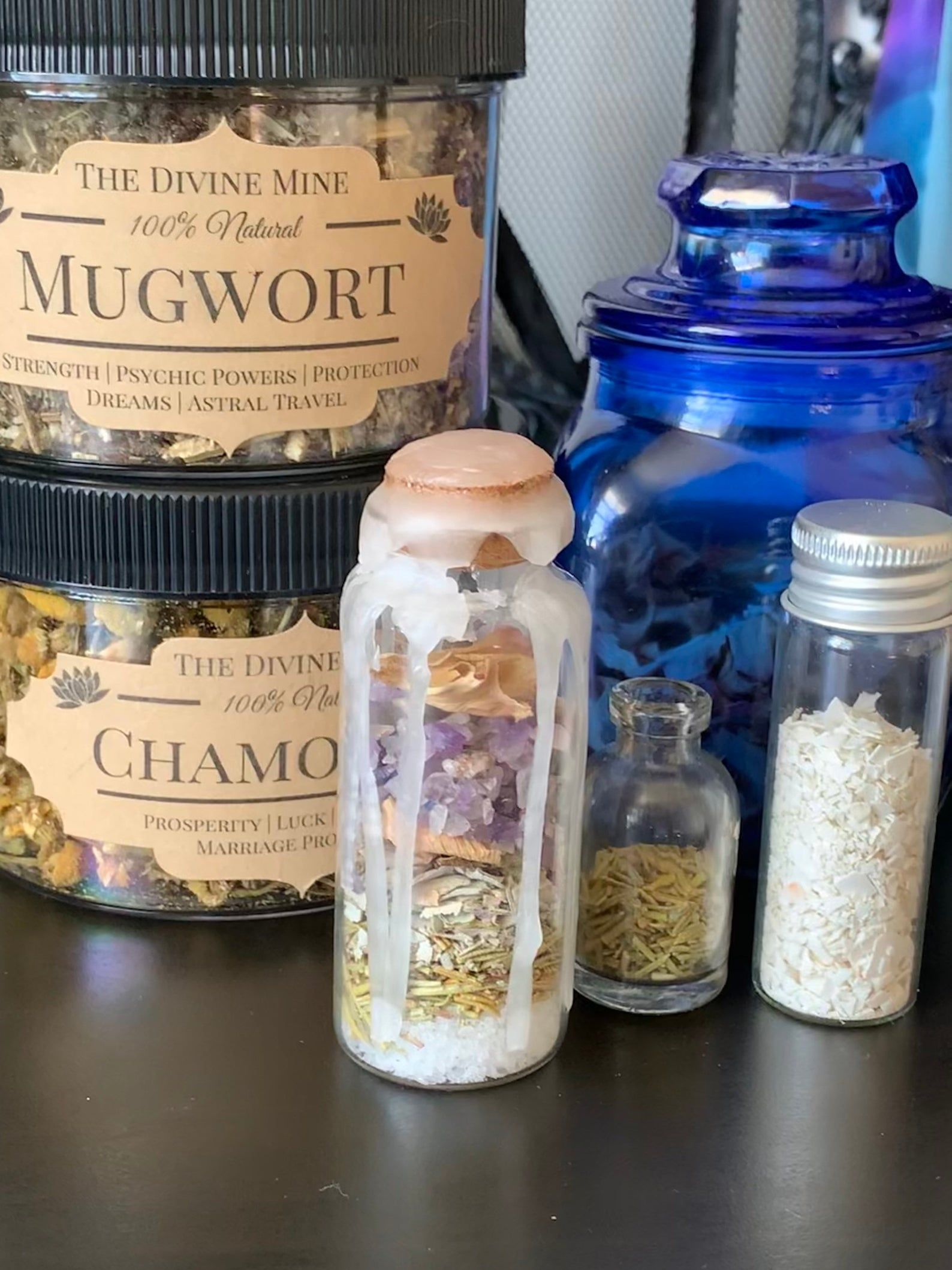 Luck and Protection Spell Jar with Star