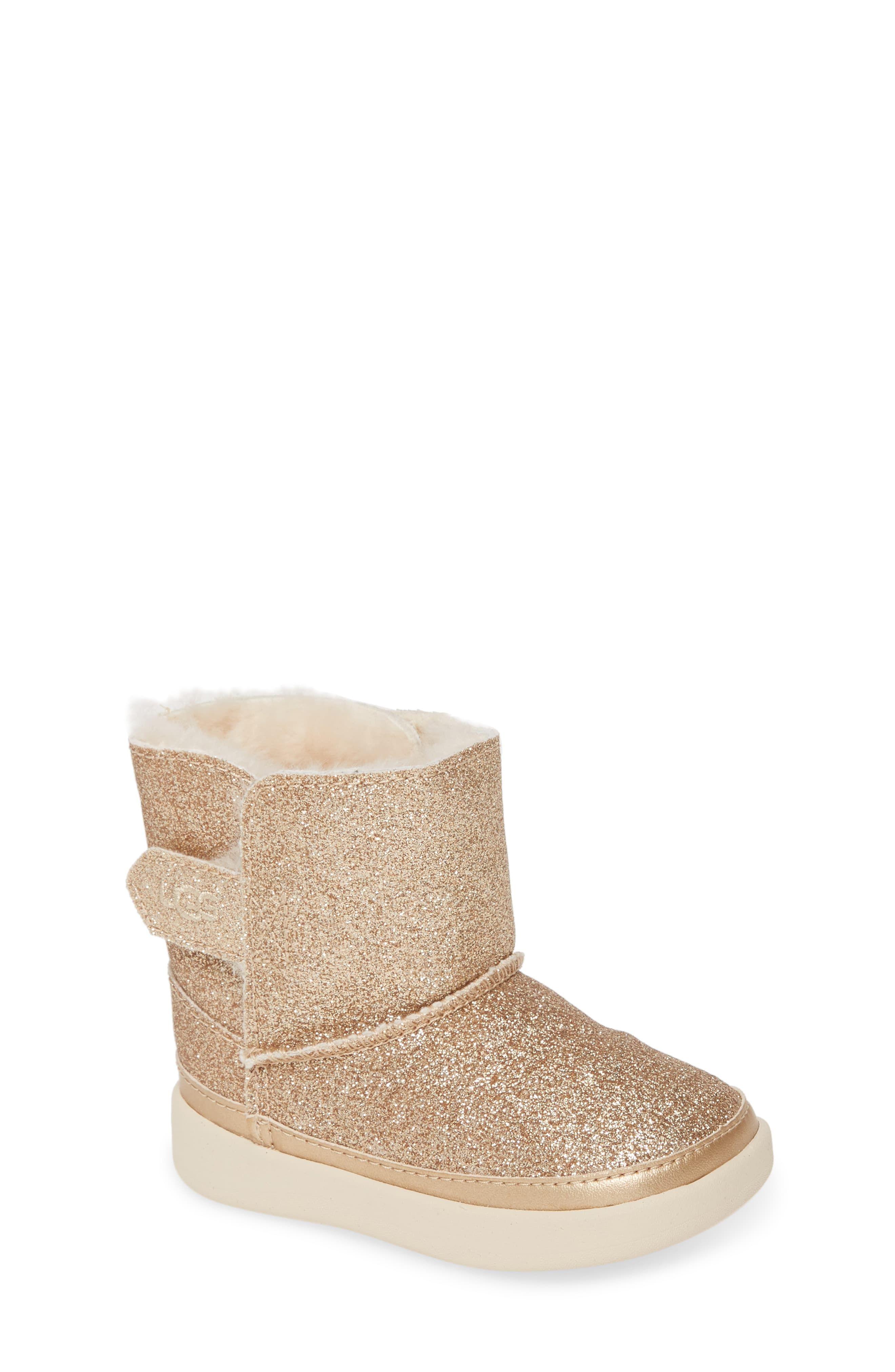 Ugg Toddler Keelan Glitter Boot Gold