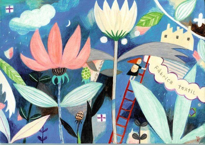 Magical Illustrated Sceneries by Makoto Maruyama -   10 magic planting Illustration ideas