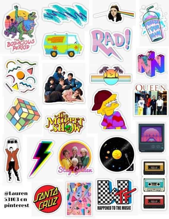 23 Vsco 90 S Sticker Pack By Etsy Iphone Case Stickers Aesthetic Stickers Cool Stickers