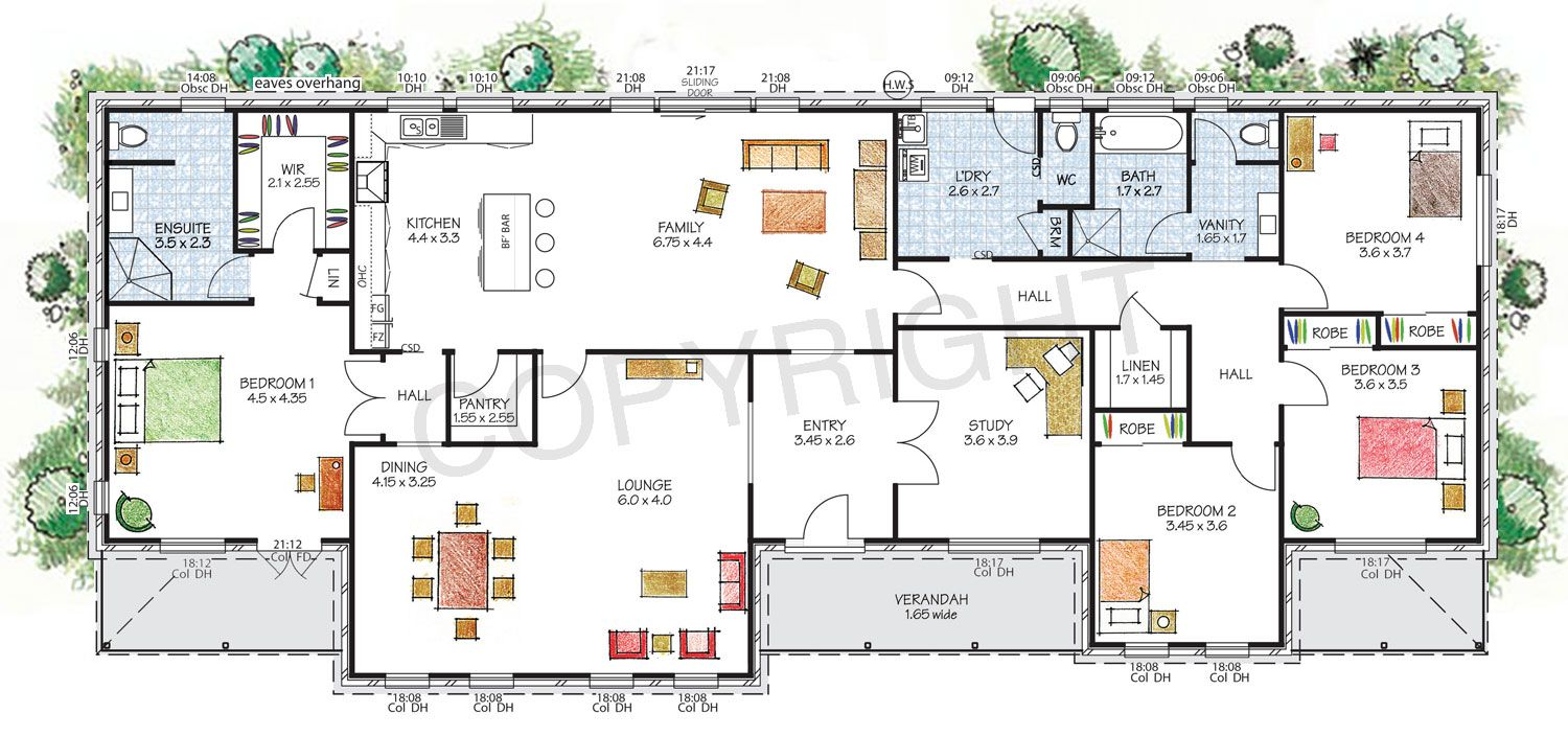 The Hawkesbury Floor Plan Download A Pdf Here Paal Kit Homes Offer Easy To Build Steel Frame Kit Homes For The House Plans Australia Kit Homes House Plans