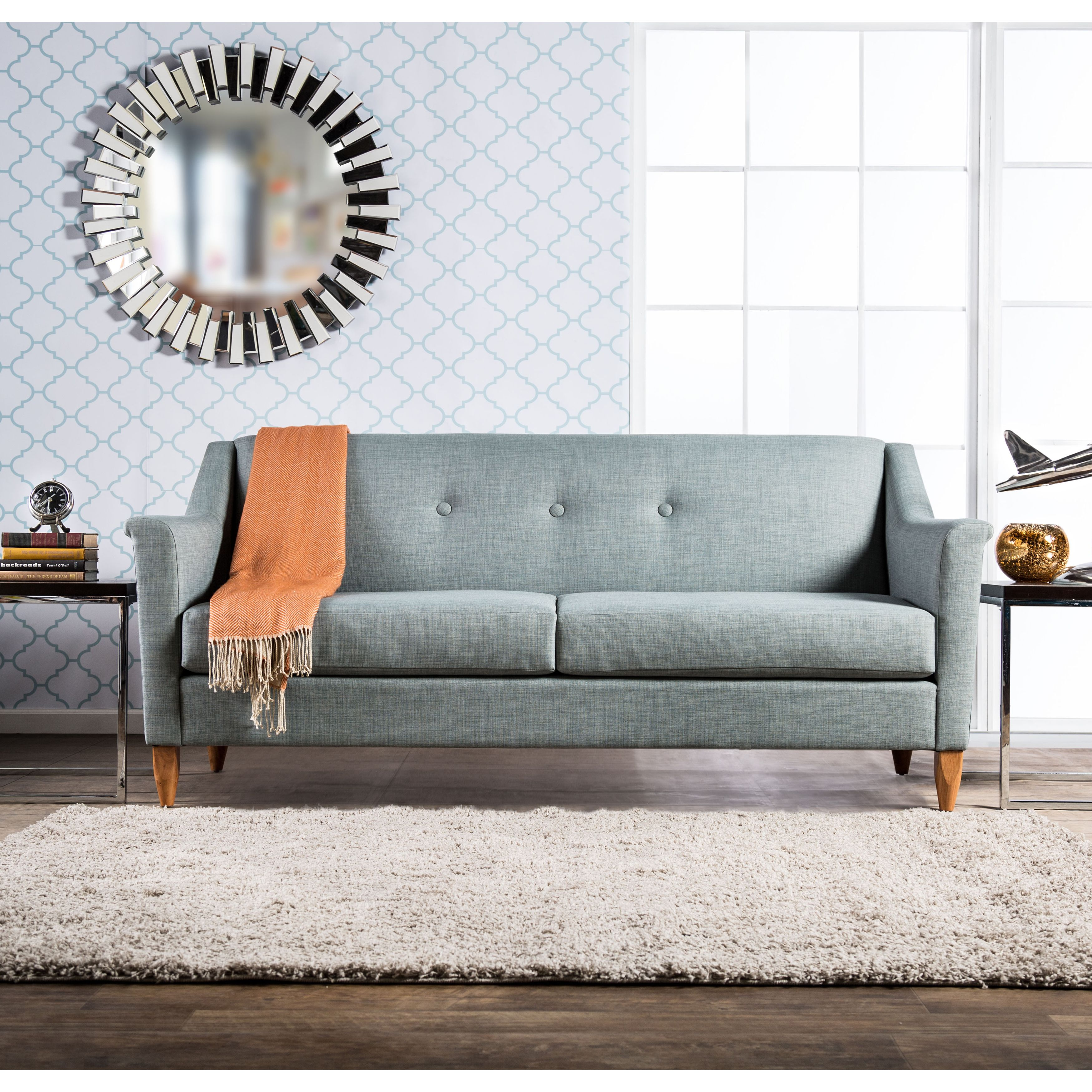 This Flared Modern Sofa Offers Comfort And Style To Fit Any Home Setting Offered In Three Colors The Takes It Back A Few Decades While Smooth