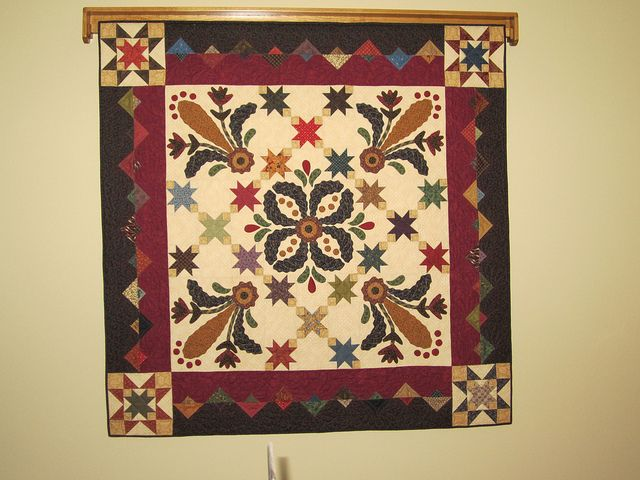 Img feathered stars pattern by kim diehl by longarm quilter