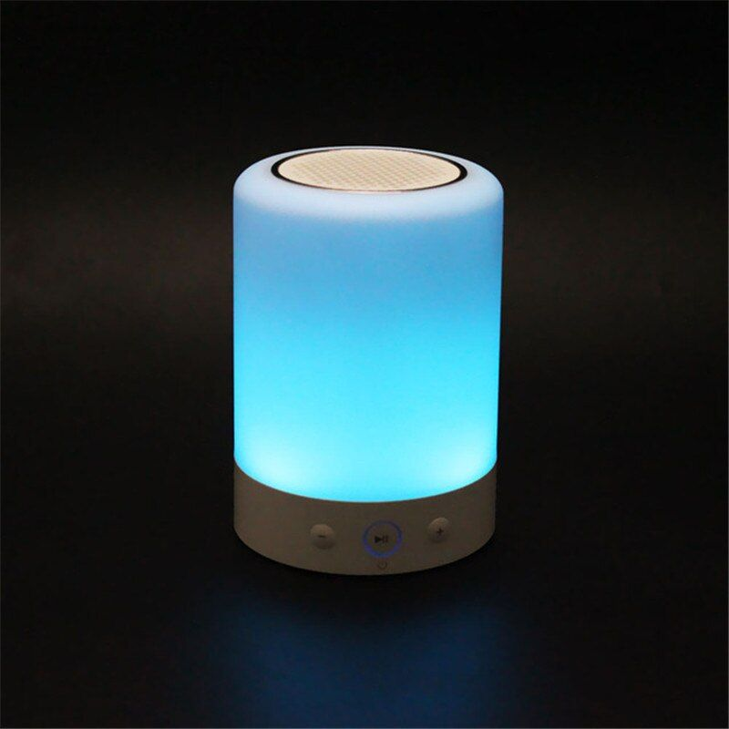 L7 Mini Portable Led Light Wireless Bluetooth Speaker Touch Dimmable Lamp With Color Handsfree Fm Radio Timer Column Sound Box Portable Led Lights Portable Led Wireless Speakers Bluetooth