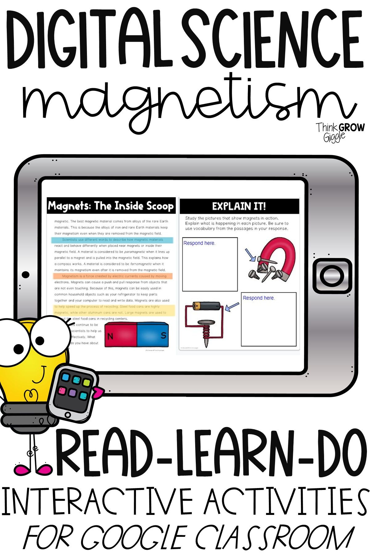 Magnets Digital Reading Comprehension Passages