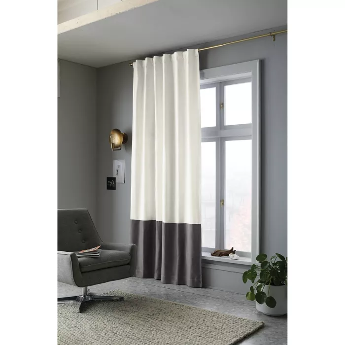 Blackout Color Block Curtain Panel Project 62 In 2020 Color