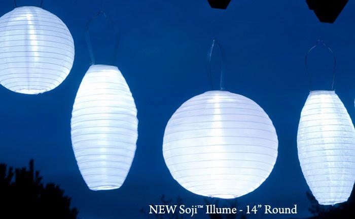 Soji Illume 14 Round Solar Lantern