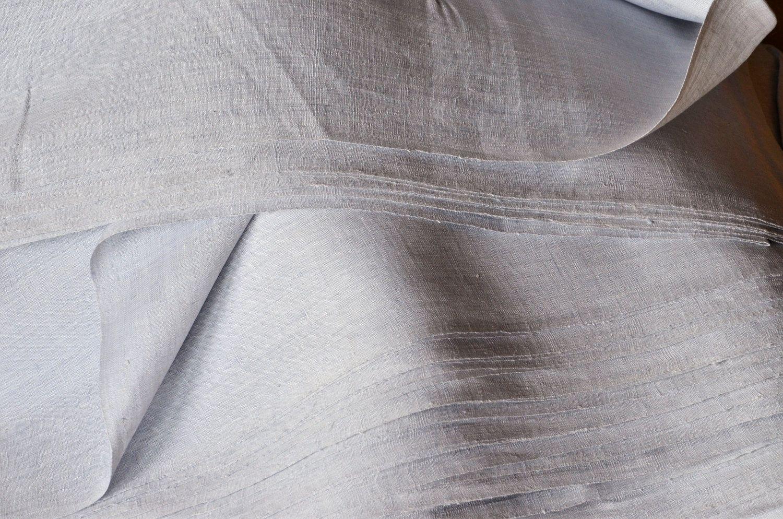 Palest Fog Blue Handwoven Linen Fabric 100 Linen Handwoven On Vintage Looms 16 25 Via Etsy Hand Weaving Linen Dress Fabric Fog Blue