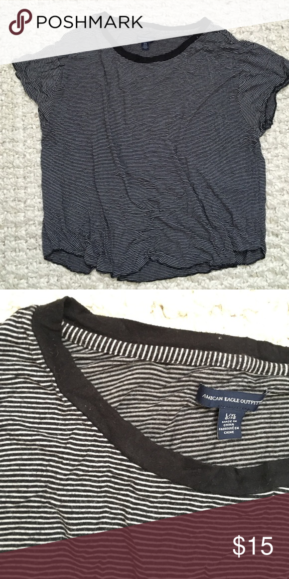 AE Stripped Crop Top Very soft! American Eagle Outfitters Tops Tees - Short Sleeve