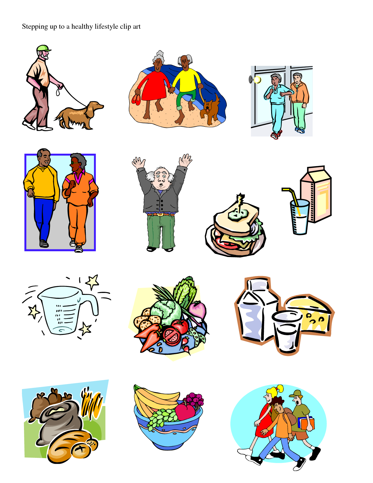 Healthy Lifestyle Clip Art