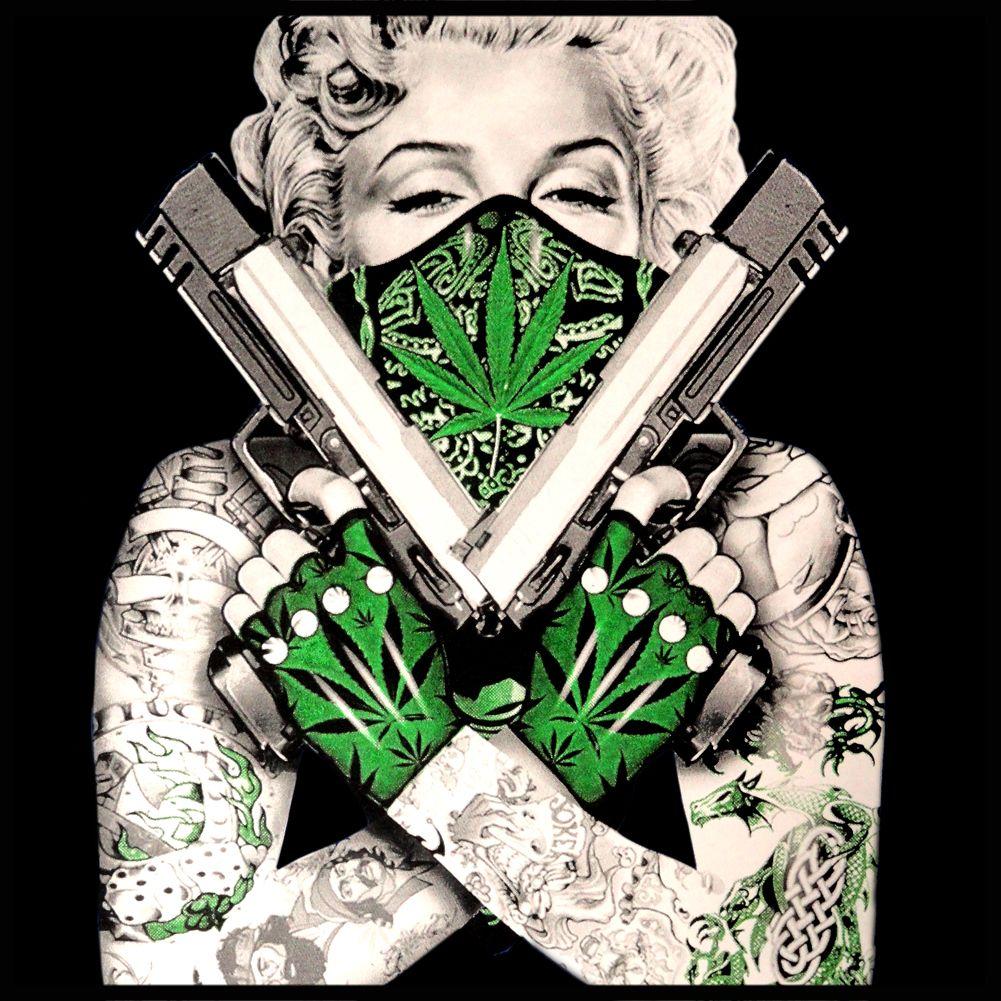 "Marijuana Monroe ""Gangster"" Girl's TShirt 420"