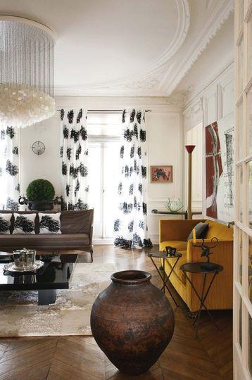 appartement haussmannien paris la d coration color e originale et design d co clectique. Black Bedroom Furniture Sets. Home Design Ideas