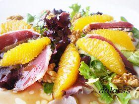 Blog de cuina de la dolorss: Ensalada de naranja y jamón de pato