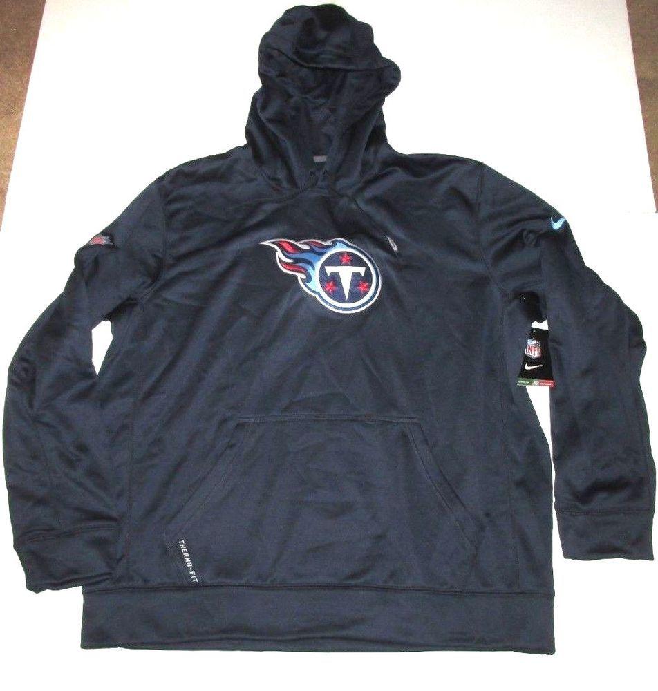 Nike Tennessee Titans Logo Therma Fit Hoodie Sweatshirt Mens Xl Navy 486150 419 Nike Tennesseetitans Sweatshirts Hoodie Workout Sweatshirt Workout Hoodie