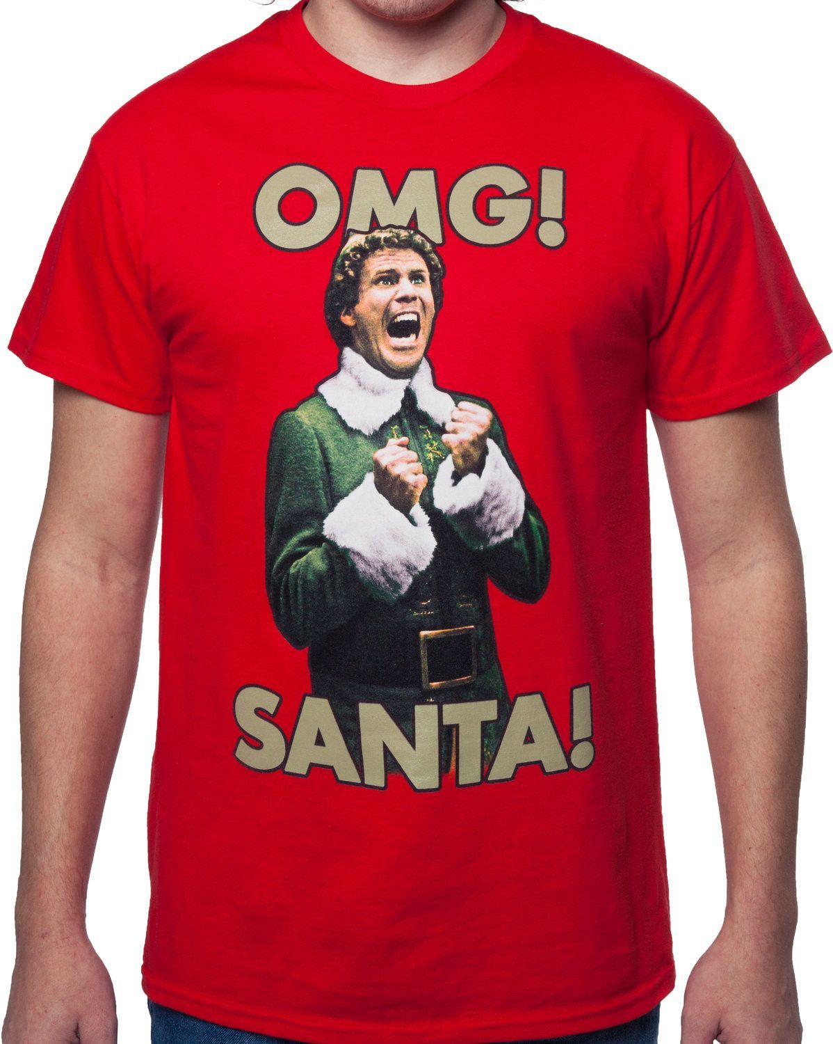 OMG Santa I KNOW HIM! Elf TShirt Christmas Movie Elf T