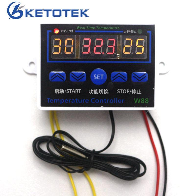 Numerique Thermostat 12 V 24 V 110 V 220 V Temperature Controleur Commutateur De Commande De Temperature 19 99c Sortie 10a 220 V Ac Digital Thermostat Thermostat Temperature Thermostat