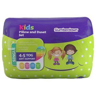 Slumberdown 4 5 Tog Kids Pillow And Duvet Set Single At Argos Co