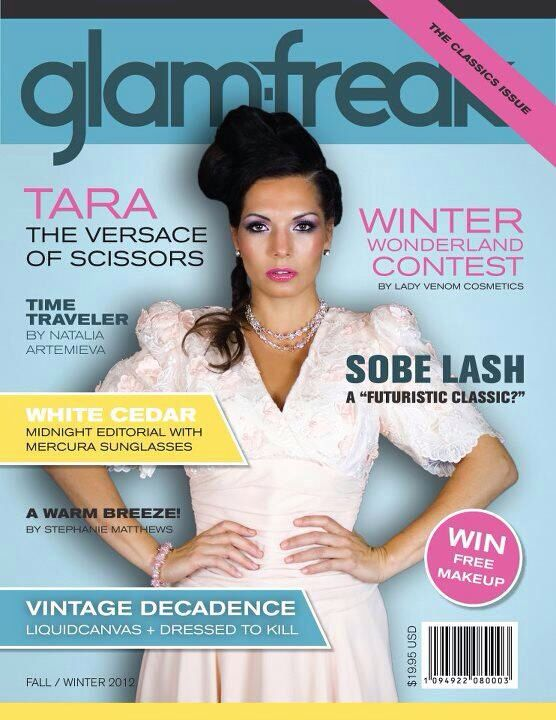 Make up created and done by me for the cover of GlamFreak magazine
