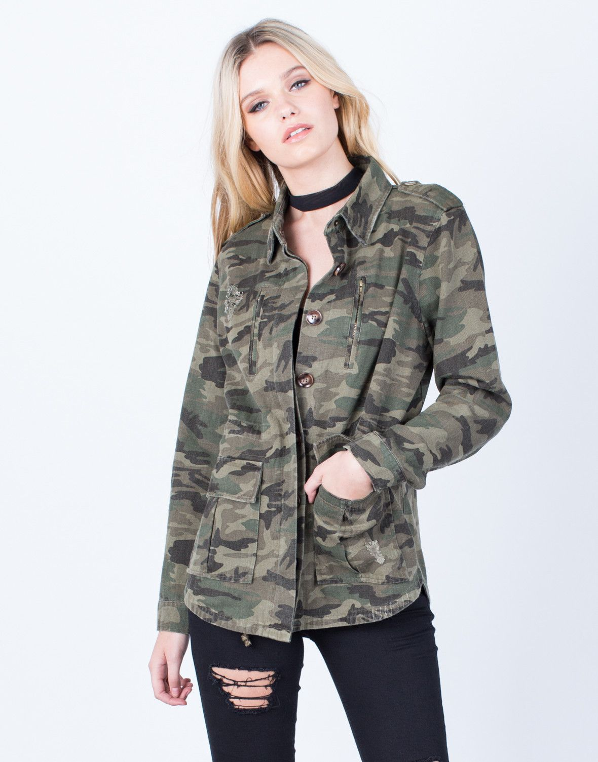 How to camouflage a wear print jacket