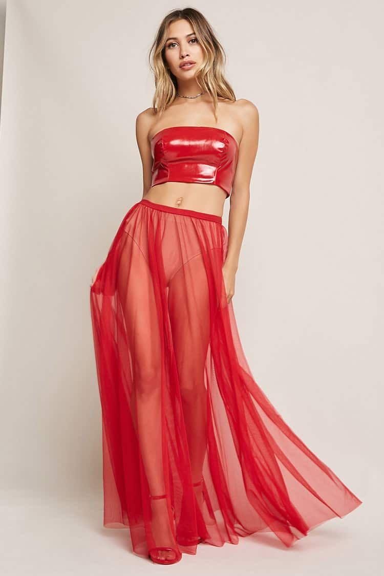 20c3c9239 Product Name:Kikiriki Sheer Maxi Skirt, Category:CLEARANCE_ZERO, Price:28