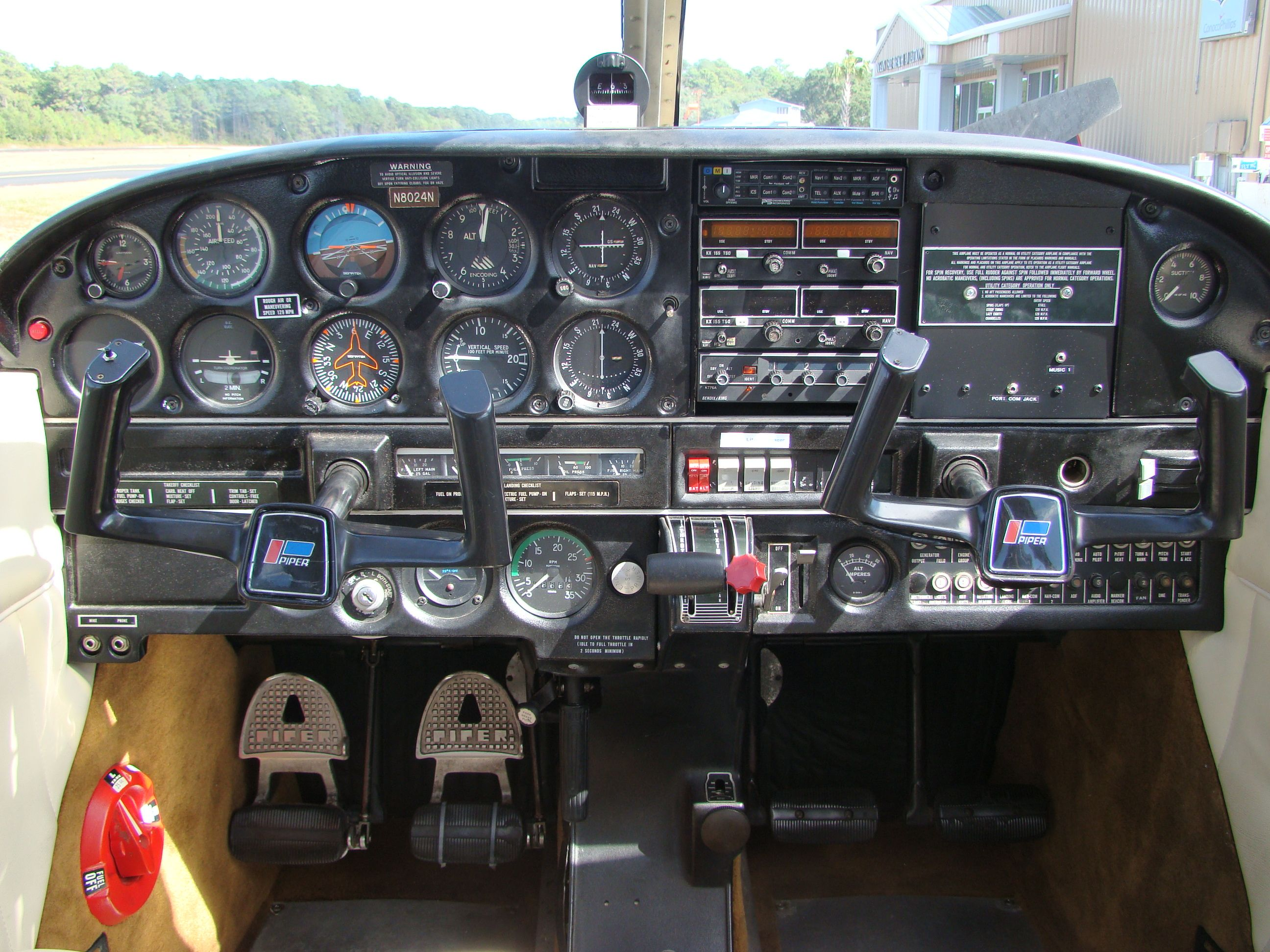 1967 Piper Cherokee 140 Instrument Panel with a Garmin 396