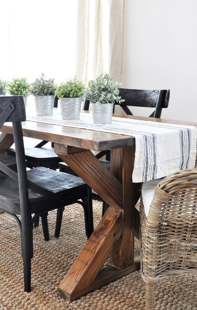 ... Table With These Free Farmhouse Table Plans. They Come In A Variety Of  Styles And Sizes So You Can Build The Perfect One For You. Farmhouse Dining  Room ...