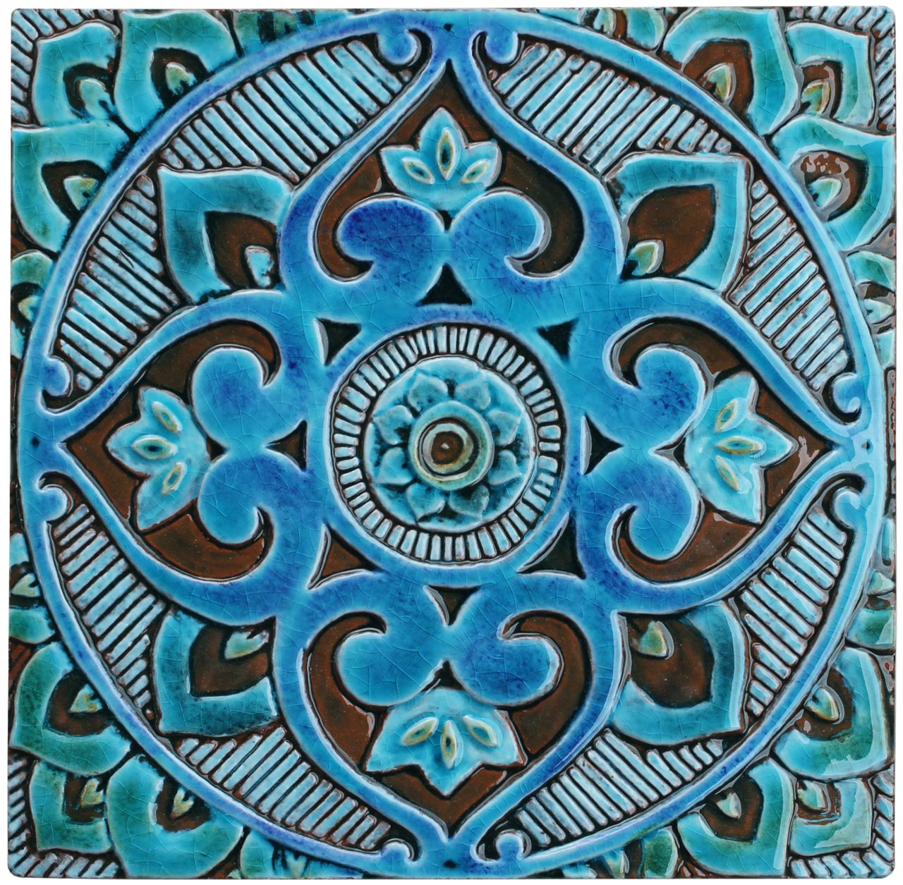 Mandala ceramic wall art cm ceramic wall art mandala and walls