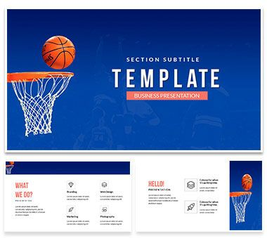 Nba Basketball Powerpoint Template Presentation  Powerpoint