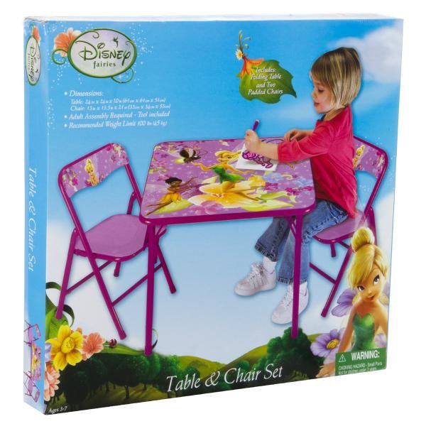 Disney Fairies Table & Chairs Activity Set 3 Piece Price: $39.95 ...