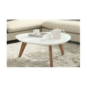 New Style Retro Designer Scandinavian White Top Center Coffee Table