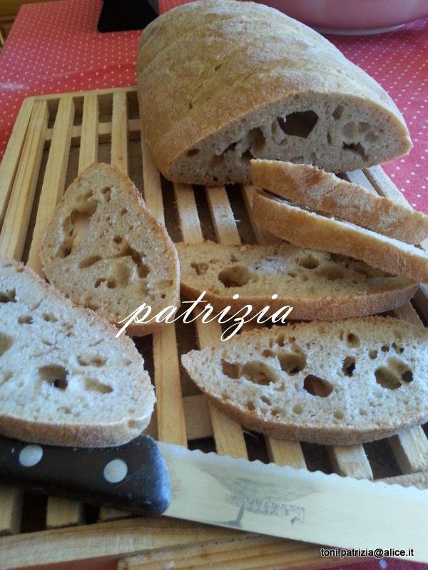 Il mio pane,farina solina e lievito madre!! Ottimo