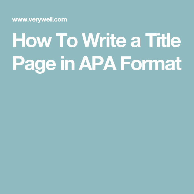 almost all types of psychology writing require a title page how should a title page look learn how to prepare a title page in apa format