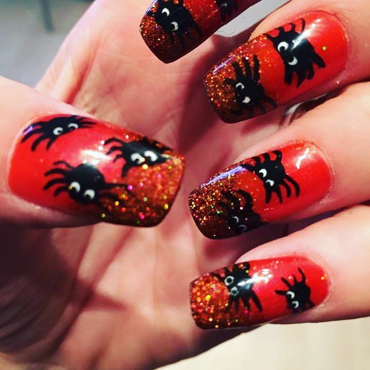 65 Creepy Nail Art Design Ideas For 2018 Halloween (With ...