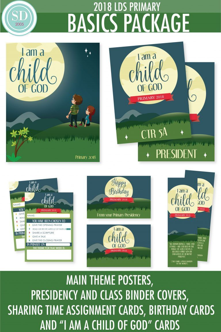 "FREE Printables for the 2018 LDS Primary Theme, ""I am a child of God ..."