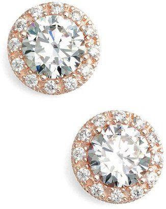 Nordstrom Round 348ct tw Cubic Zirconia Stud Earrings bride