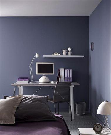 Peinture chambre fille et gar on pour ado branch s peinture violet puissance et mate for Peinture chambre garcon ado