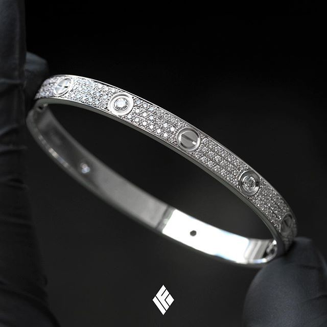 85d76b505e Custom Servicing On 18K White Gold Cartier LOVE Bracelet