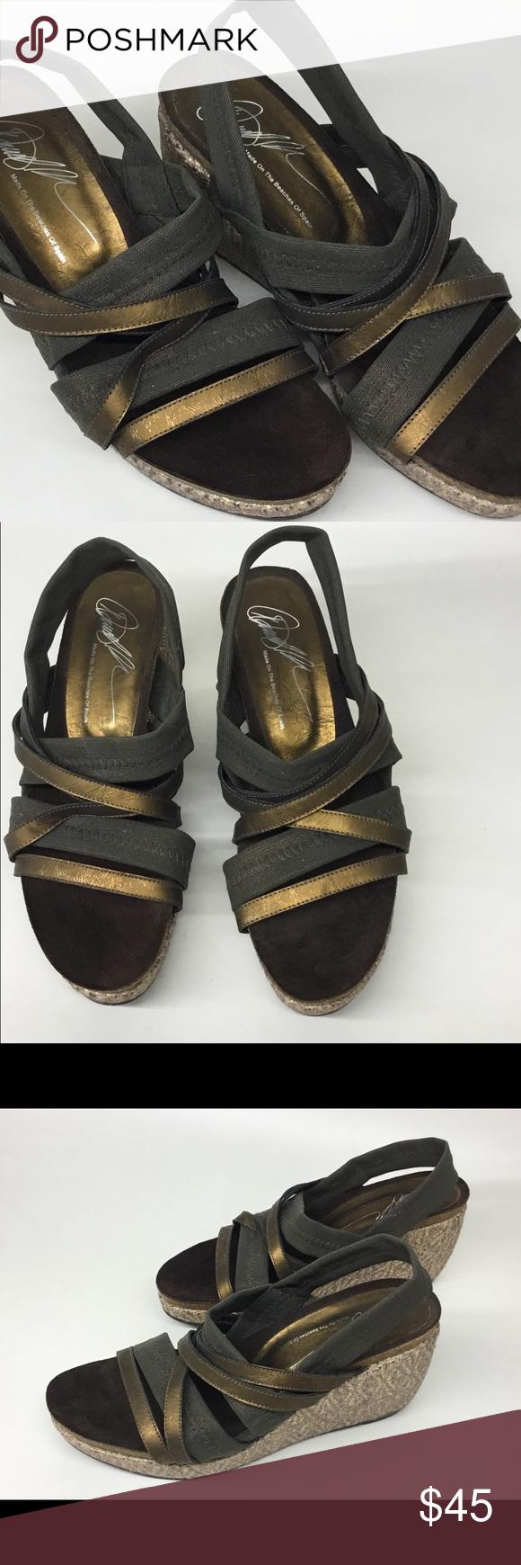Donald J Pliner Wedge Sandals With Elastic Straps Strap Heels Wedge Sandals Sandals