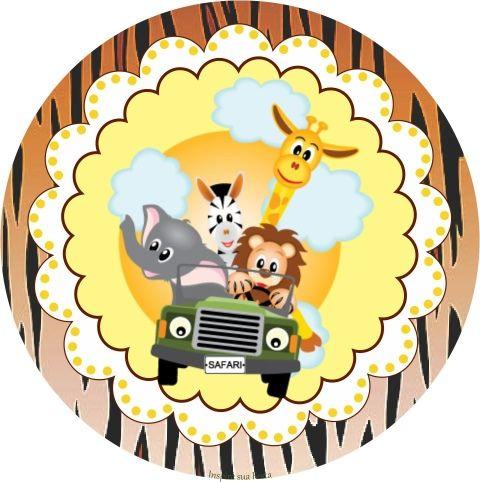 Safari Kit Festa Gratis Para Imprimir Festa Safari Decoracao