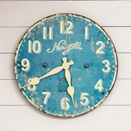Parlor Wall Clock Blue Clocks Clock Home Decor