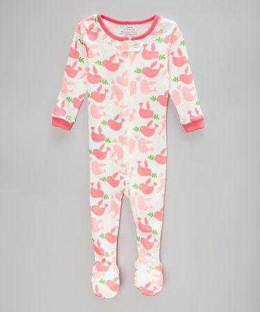 Another great find on #zulily! Pink Birds Footie - Infant, Toddler & Kids #zulilyfinds