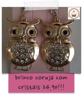 Brinco coruja - mande email para amanda@chacombolinho.com.br